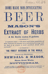 Advert For Mason's Non Alcoholic Beer